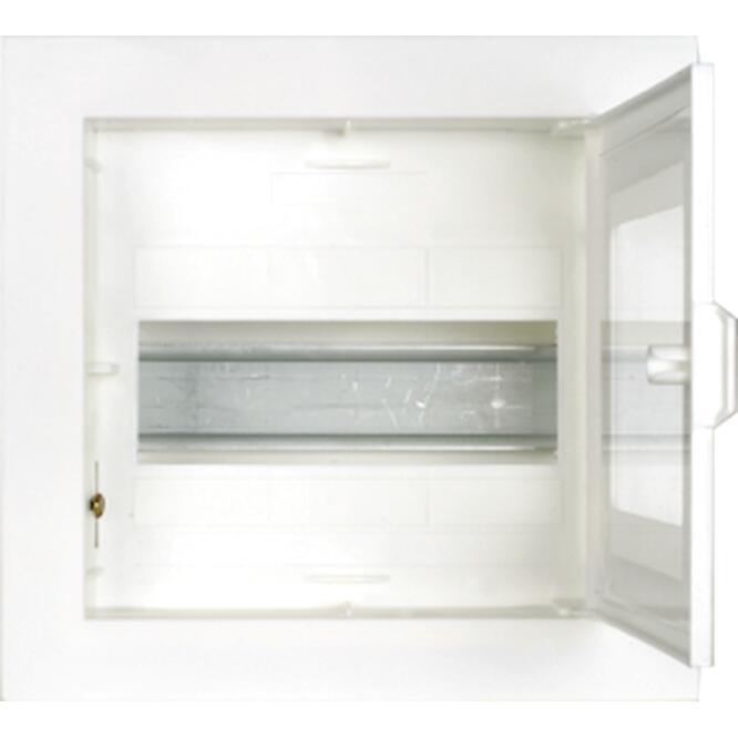 Πίνακας xωνευτός ΔΙΡΦΥΣ 1x8θ διάφανη πόρτα IP30 VU111G