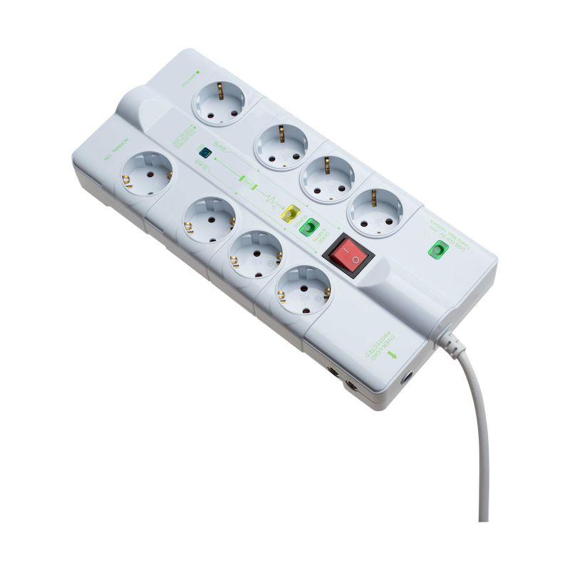 Πολύπριζο 8 θέσεων 1 USB 1 RJ45 1 RJ11 1